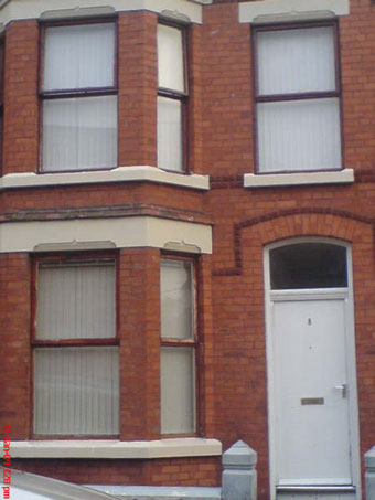 Student house in Aigburth area, Liverpool, Milner Road